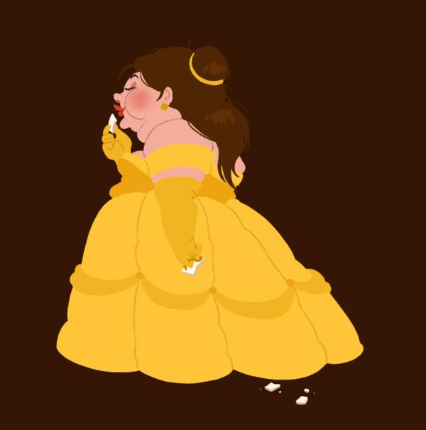 hungry_princess___belle_by_kaffepanna-d4o2zgr